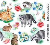 Forest Animals Pattern Isolate...