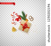 christmas and new year card... | Shutterstock .eps vector #1250202196