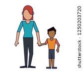 family avatar concept | Shutterstock .eps vector #1250203720
