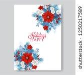 poinsettia wedding invitation... | Shutterstock .eps vector #1250217589