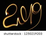2019 new year celebrating logo... | Shutterstock . vector #1250219203