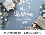 christmas silver gifts ...   Shutterstock . vector #1250223040