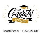 congrats graduates  class of... | Shutterstock .eps vector #1250223139