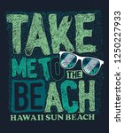summer slogan vector design for ... | Shutterstock .eps vector #1250227933
