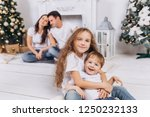 cheerful family portrait have a ... | Shutterstock . vector #1250232133