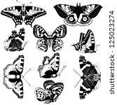 the contours of butterflies.... | Shutterstock .eps vector #125023274