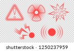 pain symptom icons set  acute... | Shutterstock .eps vector #1250237959