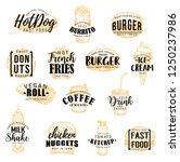 fast food sketch icons with... | Shutterstock .eps vector #1250237986