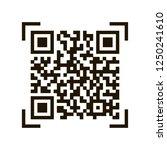 qr code. sample qr code icon.... | Shutterstock .eps vector #1250241610