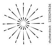 bright fireworks cartoon | Shutterstock .eps vector #1250245636