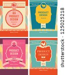 product   packaging design | Shutterstock .eps vector #125025218