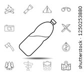 water in a bottle icon. simple...