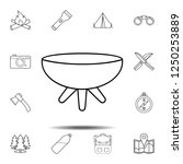 brazier icon. simple outline...