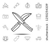 two hunting knife icon. simple...