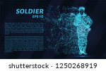 soldier. a grid of blue stars... | Shutterstock .eps vector #1250268919