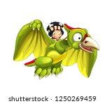 cartoon dinosaur pterodactyl... | Shutterstock . vector #1250269459