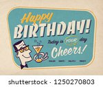 vintage style happy birthday... | Shutterstock . vector #1250270803