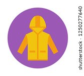 raincoat flat icon. you can be...