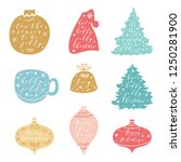 christmas and happy new year... | Shutterstock .eps vector #1250281900