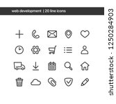vector minimalistic icons set....