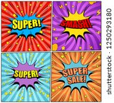 comic pages colorful set with... | Shutterstock .eps vector #1250293180