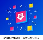 50  sale arrow tag sign icon.... | Shutterstock .eps vector #1250293219