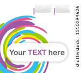 cover book colored template... | Shutterstock . vector #1250294626