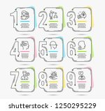 infographic template with... | Shutterstock .eps vector #1250295229