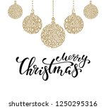 hanging christmas ball with a...   Shutterstock .eps vector #1250295316
