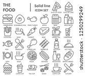 food line signed icon set  dish ... | Shutterstock .eps vector #1250299249