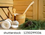 spa  sauna and wellness setting ... | Shutterstock . vector #1250299336