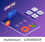 isometric vector. set of couple ... | Shutterstock .eps vector #1250300029