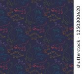 vector seamless pattern with... | Shutterstock .eps vector #1250300620