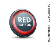 red button label illustration | Shutterstock .eps vector #1250300860
