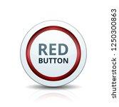 red button label illustration | Shutterstock .eps vector #1250300863
