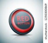 red button label illustration | Shutterstock .eps vector #1250300869