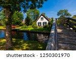 giethoorn  netherlands   july 4 ... | Shutterstock . vector #1250301970