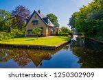 giethoorn  netherlands   july 4 ... | Shutterstock . vector #1250302909