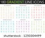 180 trendy gradient vector thin ... | Shutterstock .eps vector #1250304499