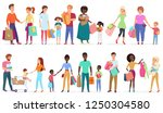 cartoon people carrying... | Shutterstock .eps vector #1250304580