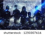silhouette of business people... | Shutterstock . vector #1250307616