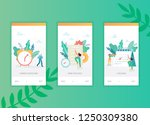 time management onboarding... | Shutterstock .eps vector #1250309380