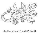 dragon from russian fairy tales.... | Shutterstock .eps vector #1250312650