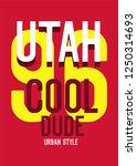 utha cool dude t shirt design   Shutterstock .eps vector #1250314693