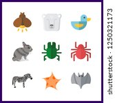 9 wildlife icon. vector... | Shutterstock .eps vector #1250321173