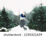 winter fashion lifestyle... | Shutterstock . vector #1250321659