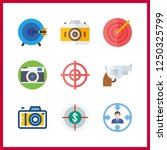 9 aiming icon. vector... | Shutterstock .eps vector #1250325799