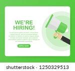 we're hiring web banner.... | Shutterstock .eps vector #1250329513