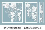 template for laser cutting ... | Shutterstock .eps vector #1250335936