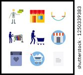 9 purchase icon. vector... | Shutterstock .eps vector #1250339383